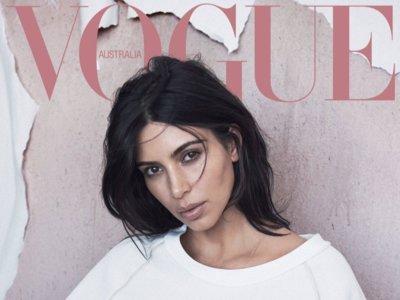Kim Kardashian (como nunca la hemos visto) conquista la portada de Vogue Australia