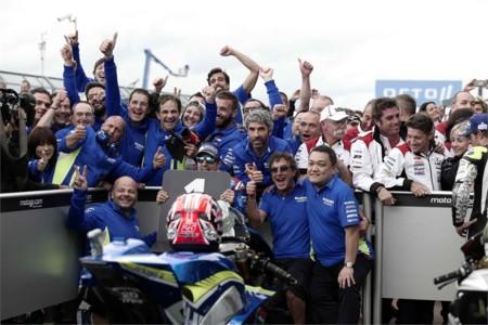 Suzuki Celebration Motogp Win Silverstone 2016