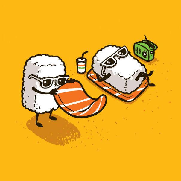 Foto de Caricaturas con comida (3/15)
