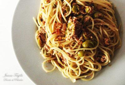 Receta de espaguetis con atún y aceitunas