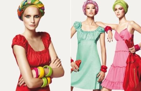 Benetton Primavera-Verano 2009, vestidos