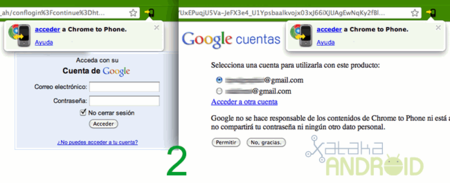 Chrome to Phone to Chrome
