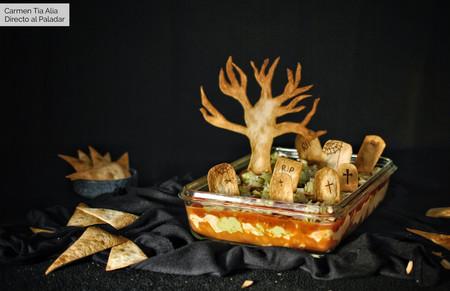 Dip cementerio para Halloween: receta fácil, rápida y muy divertida