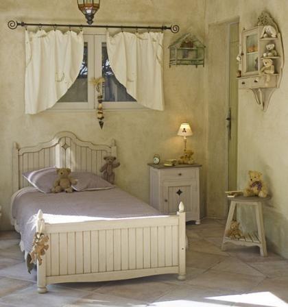 Ideas para el dormitorio infantil, mobiliario afrancesado