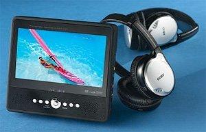 DVD portátil con auriculares inalámbricos