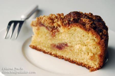 Cake de mermelada de fresa con streusel