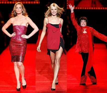 Celebrities de rojo en el desfile de The Heart Truth