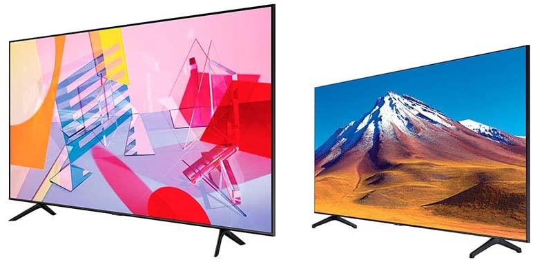 "TV Samsung 75"" 4k Smart TV QLED QN75Q60TAFXZX (2020) más pantalla 4K 43"" UN43TU6900FXZX"