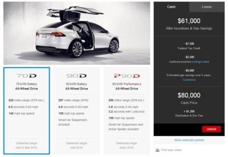 Tesla Model X tiene precio de partida: 80.000 dólares