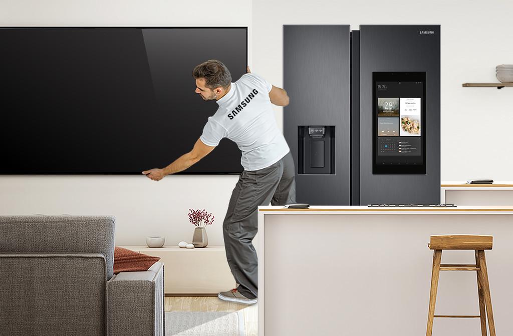 Samsung anuncia un servicio gratuito de instalación y puesta en marcha para sus teles y frigoríficos más avanzados