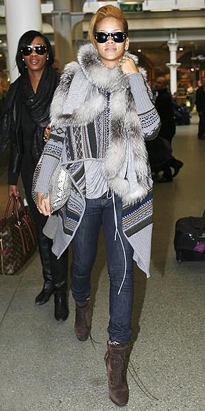 El look de calle de Rihanna lo tienes en Zara