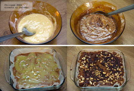 pastel chocolate almendras