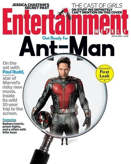 Paul Rudd como Ant-Man en la portada de la revista Ew