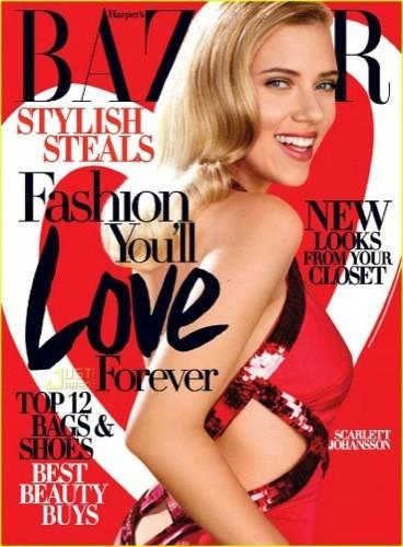 Scarlett Johansson sublime en el editorial para Harper's Bazaar USA