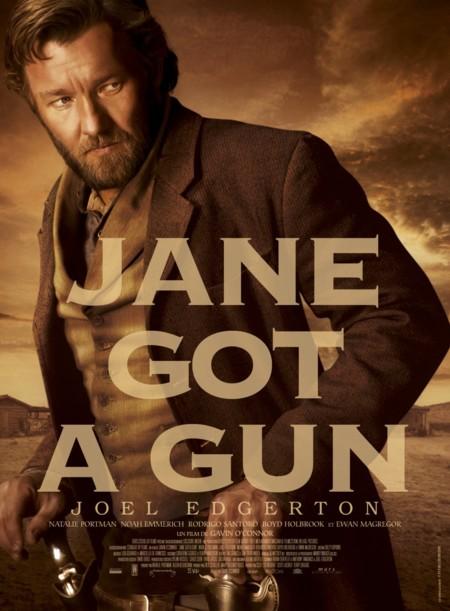 Edgerton en otro póster de Jane Got A Gun