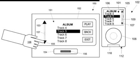 Una nueva patente de Apple muestra la interfaz de los dispositivos en los accesorios
