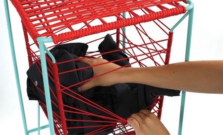 Taburetes con espacio de almacenaje, interesante alternativa para colocar chaqueta y bolso