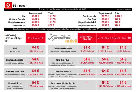 Precios Samsung Galaxy Z Flip3 Con Pago A Plazos Y Tarifas Vodafone
