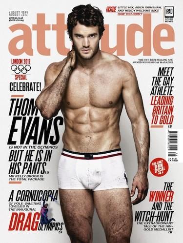 Thom Evans para Attitude: póngame una de chulazos como primer plato, por favor