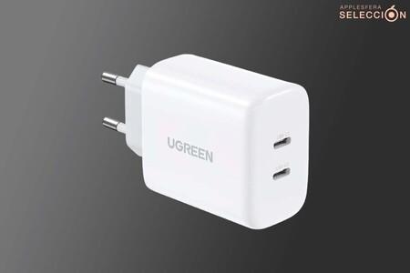 El cargador doble USB-C de 40W de UGREEN está casi a mitad de precio con este cupón en Amazon: 13,99 euros