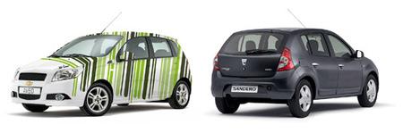 Chevrolet Aveo y Dacia Sandero