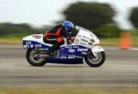 Suzuki Hayabusa a 450 km/h en la prueba de la milla