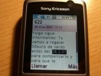 Yoigo comienza a enviar SMS anunciando las recargas gratuitas de compensación