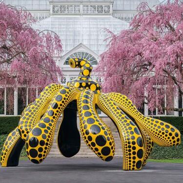 Cosmic Nature, la expo de la artista Yayoi Kusama para el Jardín botánico de Nueva York es tan increíble como su vida