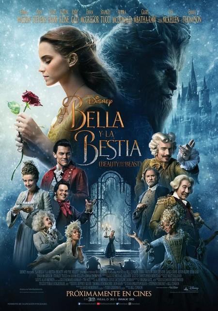 Póster final de La Bella y la Bestia