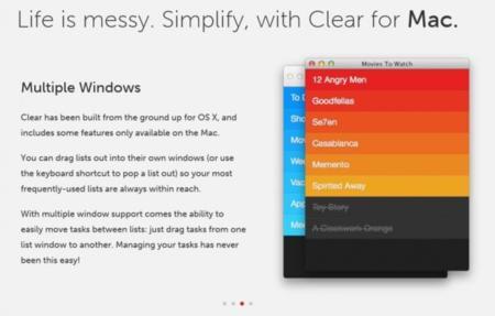 El gestor de tareas Clear llega a OS X