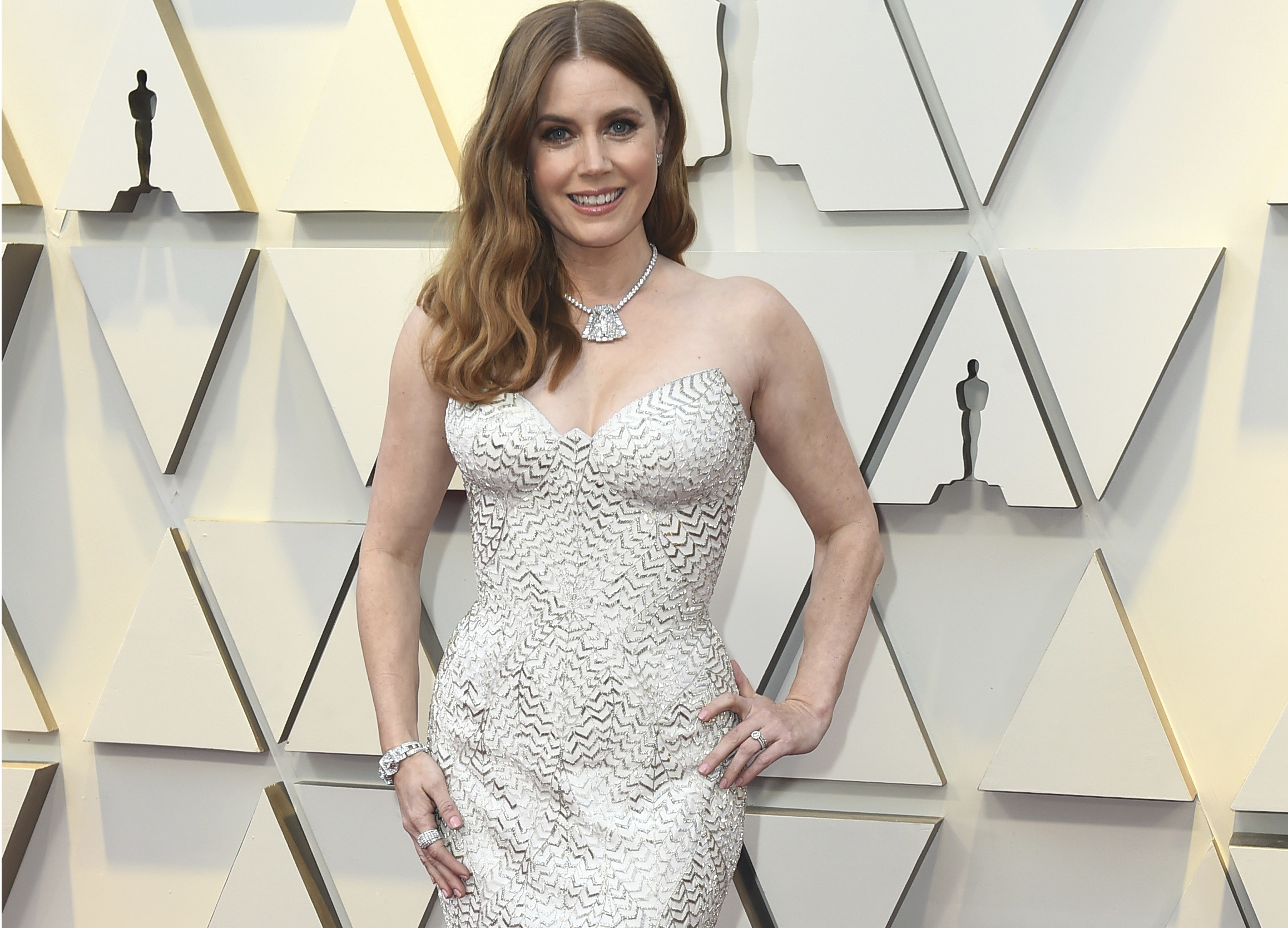Premios Oscar 2019  Amy Adams pasa desapercibida como un fantasma en la  alfombra roja 76461f17142