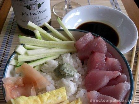 Edomae sushi o sushi al estilo de Tokio. Receta