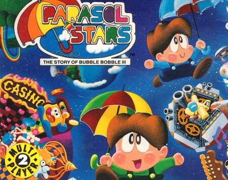 Retroanálisis de Parasol Stars, la refrescante tercera entrega del Bubble Bobble de Taito Corporation que nos hizo bailar la Lambada