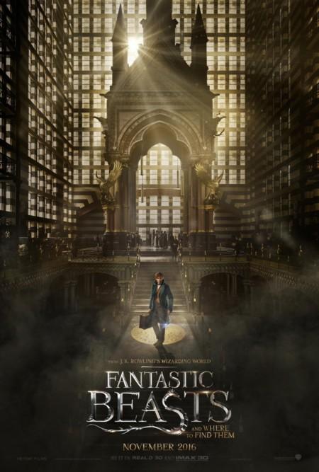 Cartel de Animales Fantásticos y Dónde Encontrarlos (Fantastic Beasts And Where To Find Them)