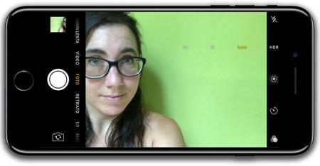 iPhone 7 Plus, interfaz de cámara rontal
