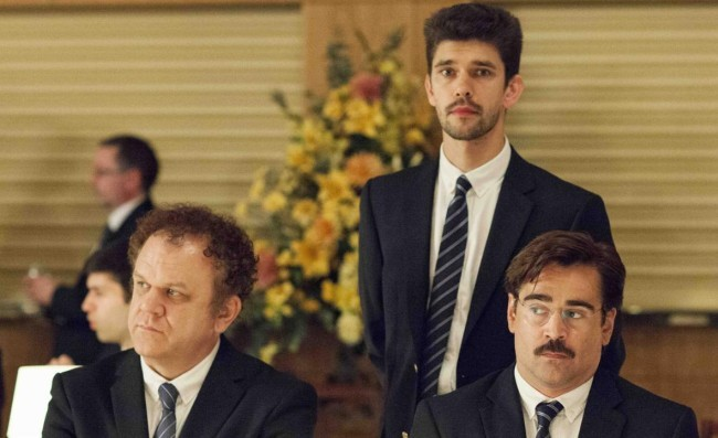 John C. Reilly, Colin Farrell y Ben Whishaw en Langosta (The Lobster)