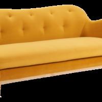 La integración del clasicismo británico con un tapizado en capitoné es una solución elegante para el confort