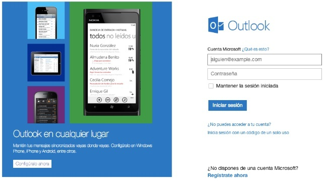 outlook.com microsoft correo