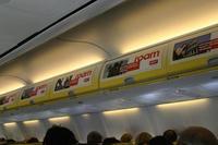 Publicidad en aviones, aprovechando las audiencias cautivas