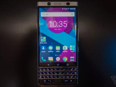 BlackBerry presenta a medias la DTEK70 Mercury con teclado físico, que llegará en el MWC