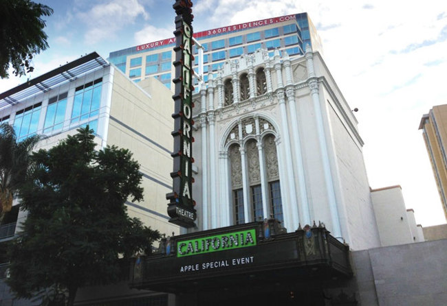 Evento de Apple en el California Theatre en San José