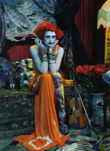 El estilo bohemio domina esta temporada por Sasha Pivovarova para Vogue Italia