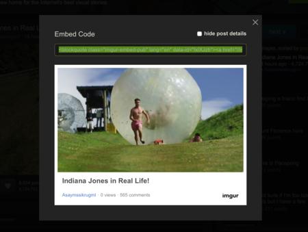 Ahora puedes incrustar imágenes y GIFs de Imgur