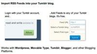 Importa cualquier RSS en Tumblr con TumblRSS