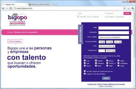 Bigopo, una red social de oportunidades para gente con talento
