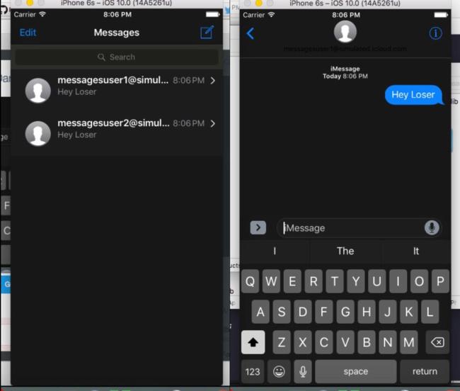 Dark Mode en Mensajes