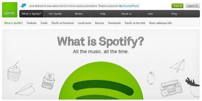 Spotify alcanza los dos millones y medio de usuarios de pago