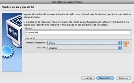 virtualbox sun asistente nombre tipo