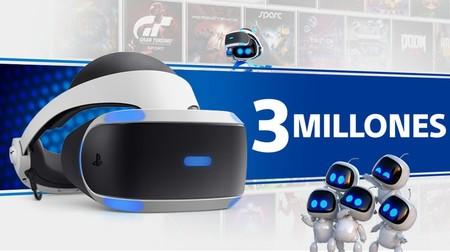 Sony confirma que ya se han vendido más de 3 millones de PlayStation VR en todo el mundo
