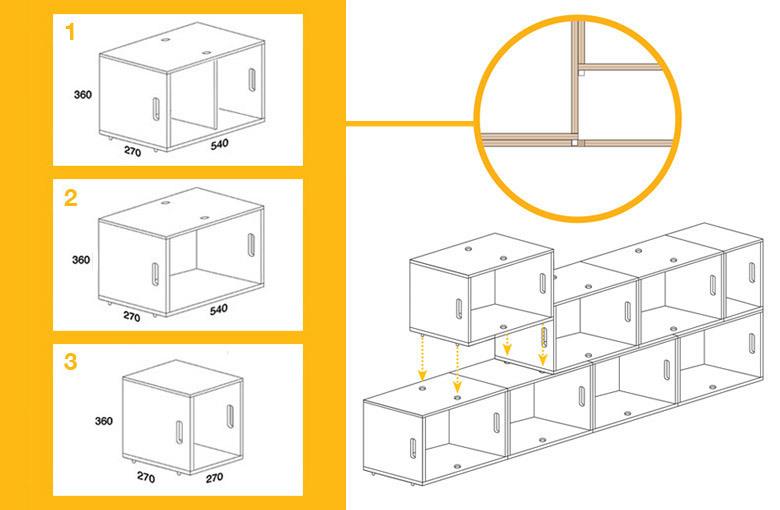 Foto de Feria Hábitat 2010: BrickBox, una ingeniosa estantería modular (6/7)